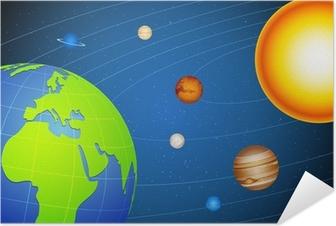 Zelfklevende Poster Zonnestelsel