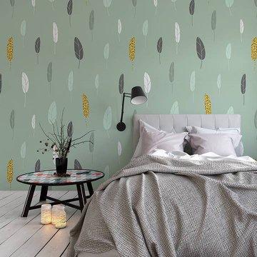 Duvar Resmi ve Çıkartması yatak odası - İskandinav stil