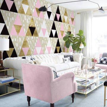Fototapeta a nálepka do obývacího pokoje - Trojúhelníky