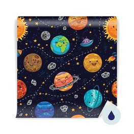 Wall Mural Pupil - Space pattern background with planets, stars and comets