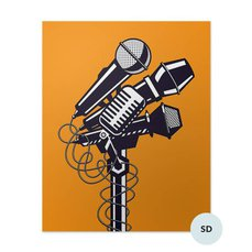 Póster - Micrófonos