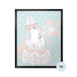 Póster para estudiante - Conejo