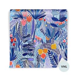 Wall Mural Dining room - Tropikal floral pattern