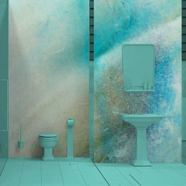 Duvar Resmi banyo - Kabuk makro arka plan