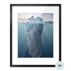 Poster - Iceberg con vista subacquea