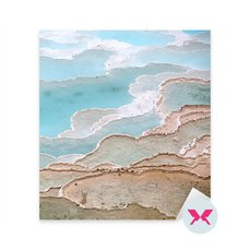 Sticker - Travertine pools and terraces in Pamukkale, Turkey