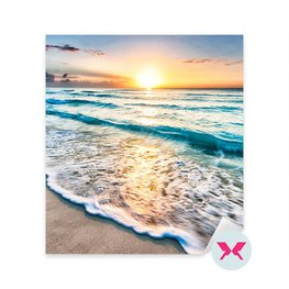 Sticker Bedroom - Sunrise over beach in Cancun