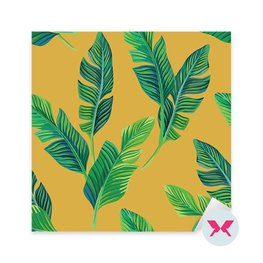 Sticker - Banana leaves seamless background