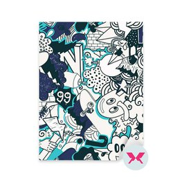 Sticker Teenage boy's room - Graffiti colorful pattern