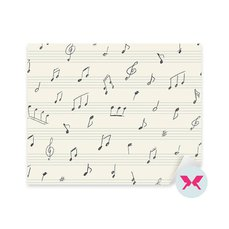 Adesivo - Disegno musicale con note musicali scritte a mano