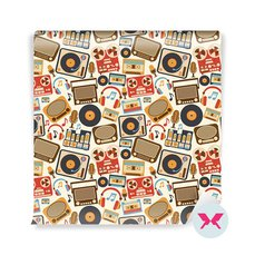 Wall Mural - Music retro pattern