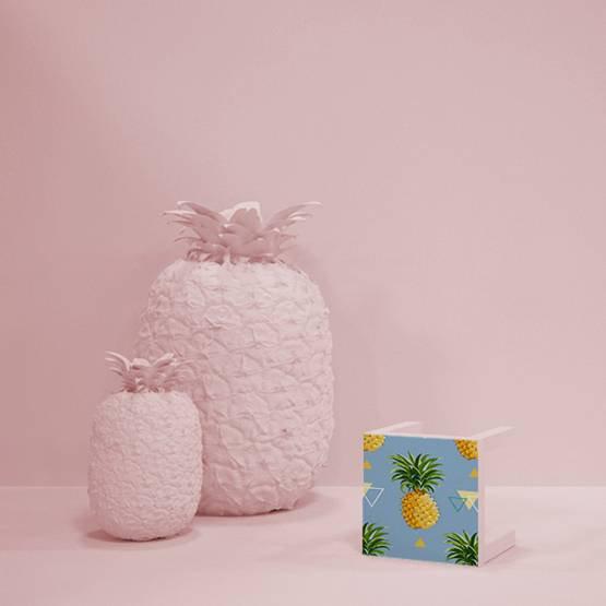 Naklejka - Geometryczne ananasowe tło