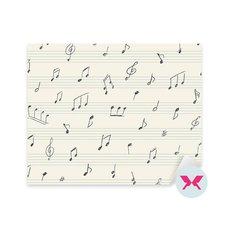 Vinilo - Patrón de música con notas musicales manuscritas