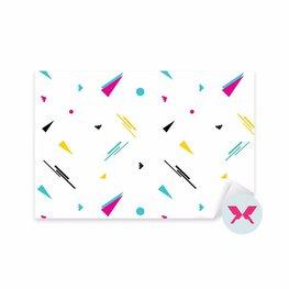 Naklejka - Jednolity geometryczny wzór w stylu retro