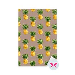 Naklejka - Ananasy, tropikalne tło