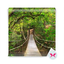 Papier peint - Pont dans la forêt