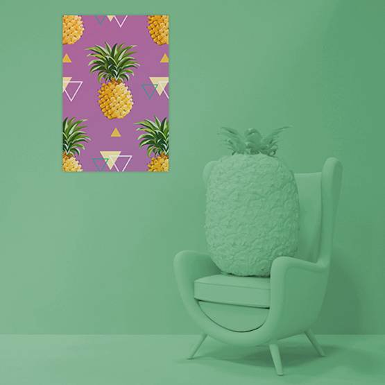 Plakát - Geometrické ananasy