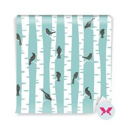 Carta da Parati - Uccelli sugli alberi