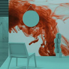Fototapeta do salonu - Krew w wodzie