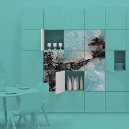 Çıkartması yemekhane - Fantastik arka plan, bir taşın büyüsü