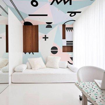 Duvar Resmi ve Çıkartması yatak odası - Minimalist stil