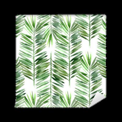 papier peint motifs aquarelle palme feuille d 39 arbre. Black Bedroom Furniture Sets. Home Design Ideas