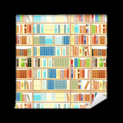 papier peint motifs biblioth que pleine de livres pixers nous vivons pour changer. Black Bedroom Furniture Sets. Home Design Ideas