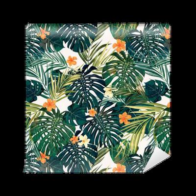 papier peint motifs bright fond transparent tropical. Black Bedroom Furniture Sets. Home Design Ideas
