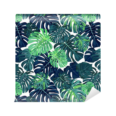 papier peint motifs mod le vectoriel vert avec la paume. Black Bedroom Furniture Sets. Home Design Ideas