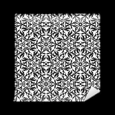 tapete abstrakte schwarzweiss hand gezeichnet nahtlose muster pixers wir leben um zu. Black Bedroom Furniture Sets. Home Design Ideas