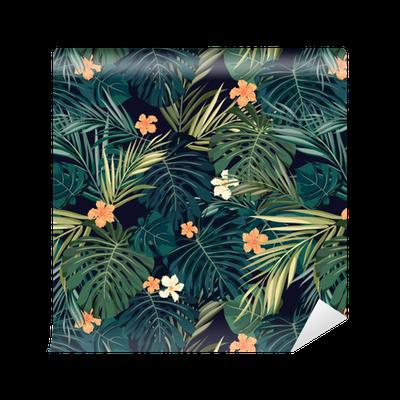 tapete helle bunte tropische nahtlose hintergrund mit bl ttern und pixers wir leben um zu. Black Bedroom Furniture Sets. Home Design Ideas