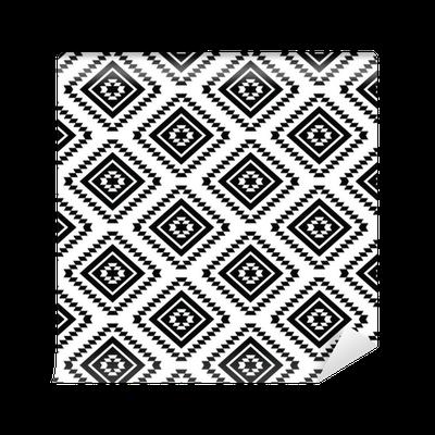 tapete tribal nahtlose muster azteken schwarz wei em hintergrund pixers wir leben um zu. Black Bedroom Furniture Sets. Home Design Ideas