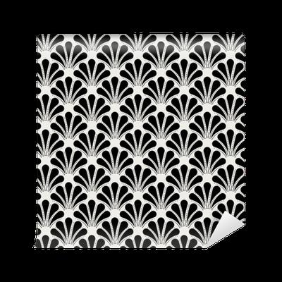 tapete vintage art deco nahtlose muster geometrische shell dekorative textur pixers wir. Black Bedroom Furniture Sets. Home Design Ideas