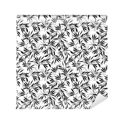 Bamboo Leaf Background Floral Seamless Texture With