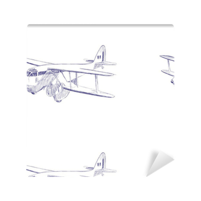 Biplane Aircraft Hand Drawing This Is Original Sketch Wallpaper Pixers We Live To Change