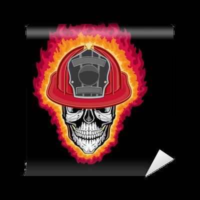 Flaming Firefighter Skull And Helmet Wallpaper Pixers We Live To Change