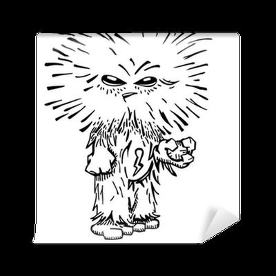 Unusual Funny Hairy Monster Sketch Vector Wallpaper Pixers We Live To Change