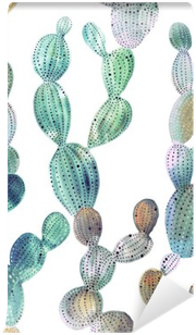Fotomural Estándar Patrón de cactus en el estilo de la acuarela