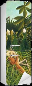 Henri Rousseau - Jaguar Attacking a Horse Fridge Sticker