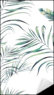 Nálepka Pixerstick Léto palma a banánových listů
