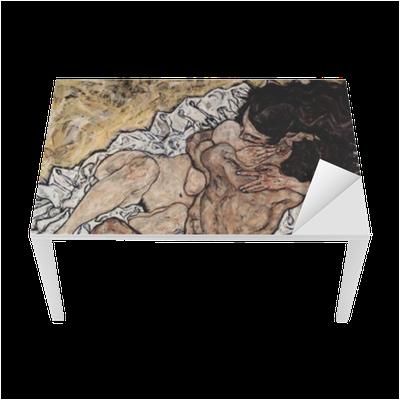 Egon Schiele - Embrace Table & Desk Veneer
