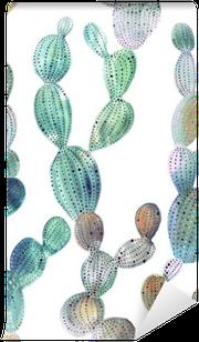 Cactus pattern in watercolor style Vinyl Wall Mural