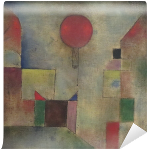 Paul Klee - Red Baloon Vinyl Wall Mural
