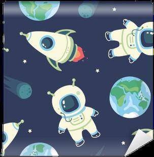 cosmonaut Vinyl Wallpaper