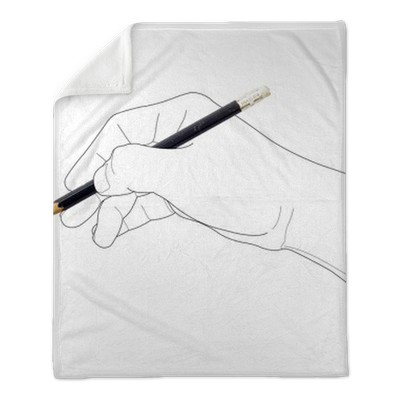 Hand Holding Pencil Plush Blanket Pixers We Live To Change