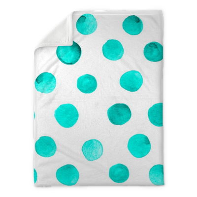 Seamless Background Pattern With Teal Blue Dots Plush