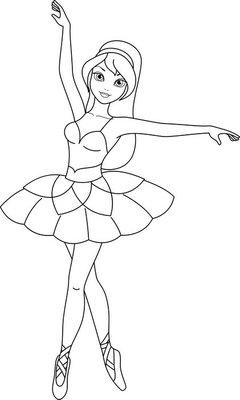 Kleurplaten Balletdanseressen Archidev