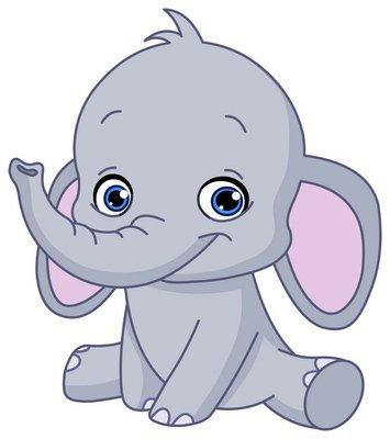 Nálepka na Stěny Baby elephant