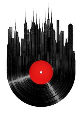 Nálepka na Stěny Vinyl město