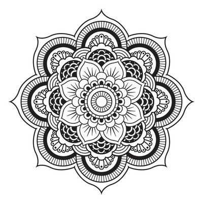Sticker Mural Mandala. Ornement ronde